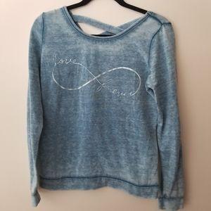 Just ginger love forever sweater blue